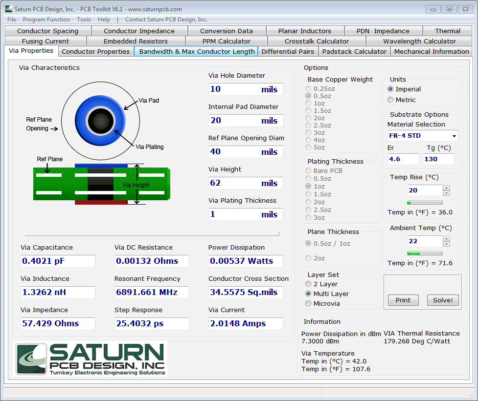 Pcb Impedance Calculator Single Ended Differential Pair Open Source Design Software One Of The Bests Is This Free Saturn Toolkit Http Saturnpcbcom Toolkithtm